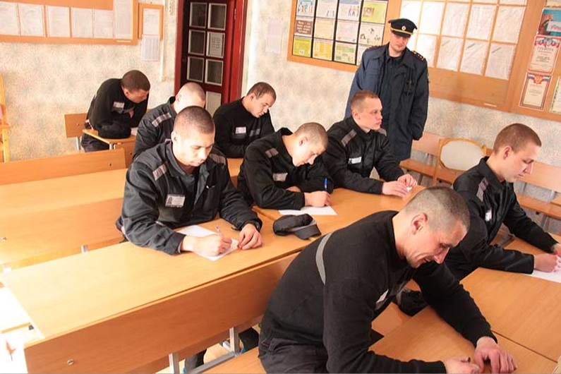 Фото ИК 5 Клекотки, где заключённые проходят занятия по переподготовки кадров с обучением новой профессии и специальностей..
